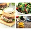 Tuna Sandwich and Salad Meal