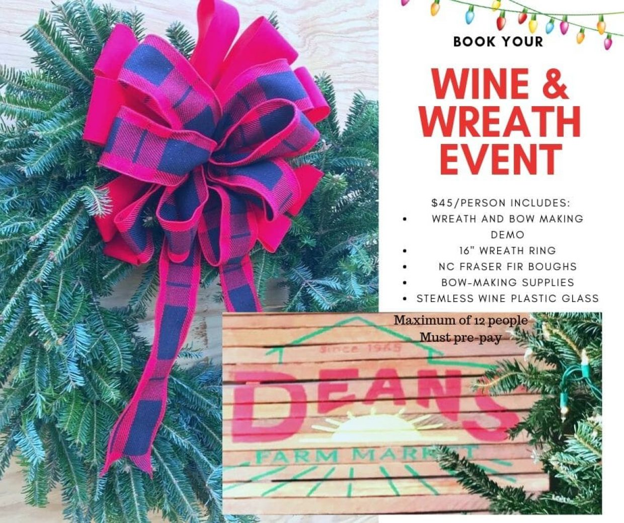Wine and Wreath Event